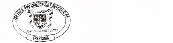 Frestonian Visa Stamp