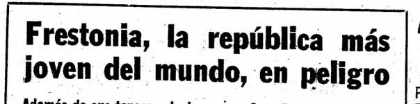 Article from La Vanguardia Internacional, Domingo, Spain